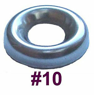 10g Stainless Steel Cup Washers - 5mm Screw Cups - Countersunk Screw Cups x50