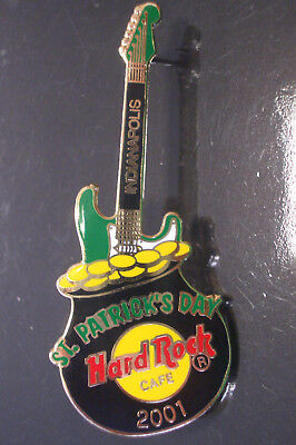 HRC Hard Rock Cafe Indianapolis St Patricks Day 2001 Pot of Gold Guitar LE400