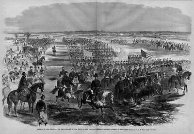 President Lincoln Reviews Army Cavalry, Buford Division