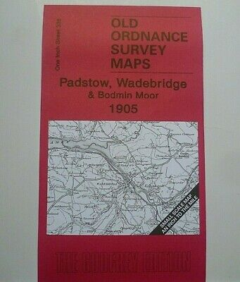 OLD ORDNANCE SURVEY MAPS  PADSTOW  WADEBRDGE BODMIN MOOR 1905 Godfrey Edition