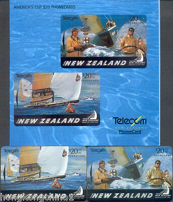 New Zealand 95 America's cup Phonecard pack unused NZ13488