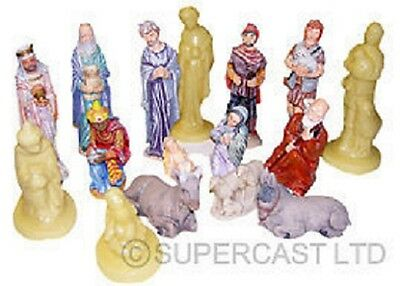 12 Supercast Large Nativity Reusable Latex Moulds / Molds