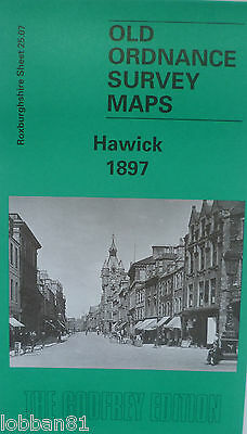 OLD ORDNANCE SURVEY MAPS SCOTLAND HAWICK 1897 Sheet 25.07 Godfrey Edition New