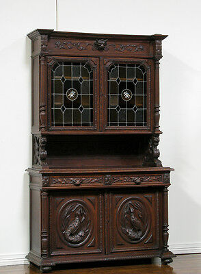 55533 : FRENCH RENAISSANCE HUNT STYLE ANTIQUE BUFFET