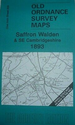 Old Ordnance Survey Map Saffron Walden Grantchester Haverhill  Fulbourn 1893 New