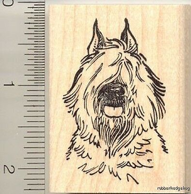 Bouvier des Flandres dog Rubber Stamp G11303 WM