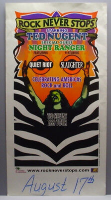 Ted Nugent 1999 Show Poster W/quiet Riot & Slaughter
