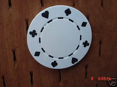 500  White  11.5  Gram  Clay  Suited  Poker  Chips