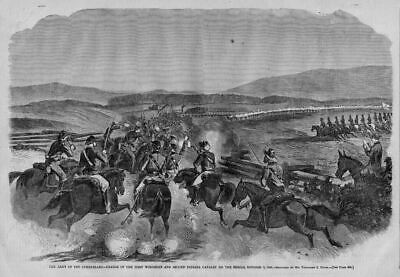 Civil War First Wisconsin And Second Indiana Cavalry Horses Charging The Rebels