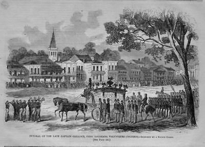 Louisiana Negroes, First Colored Volunteers Funeral