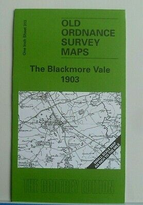Old Ordnance Survey Maps Blackmore Vale & Stalbridge Dorset 1903 Sheet 313 New