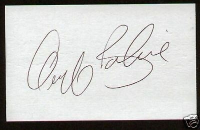 Geoff Bodine signed autographed 3x5 NASCAR Great