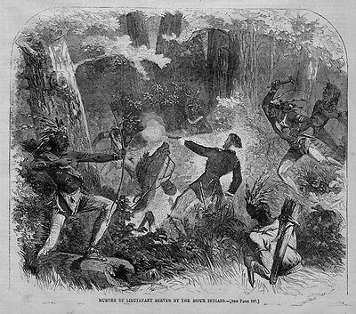 Sioux Indians, Murder Of Lieutenant Beever, Bow & Arrow