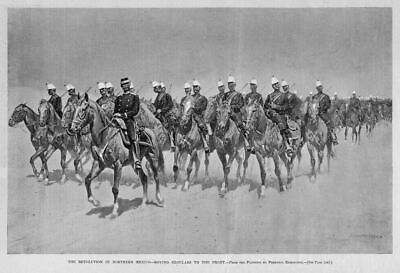 Frederic Remington Print, Mexican Soldiers On Horseback