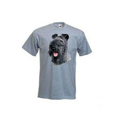 Kerry Blue Terrier Face Design Printed Ash T-Shirt