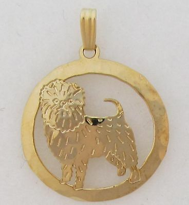 Affenpinscher Jewelry Gold  Pendant By Touchstone Dog Designs