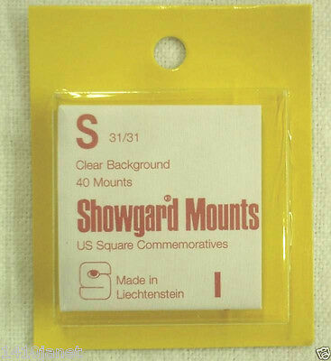 Showgard Clear Stamp Mounts S 31/31 40 mounts (m9b)