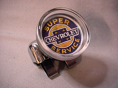 CHEVY SUPER SERVICE SUICIDE STEERING WHEEL SPINNER KNOB