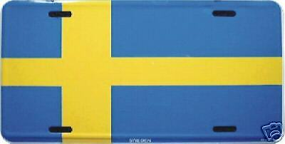 Sweden Flag Metal Embossed License Plate