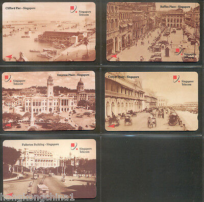 Singapore Old Singapore phonecard set mint never used SG13541