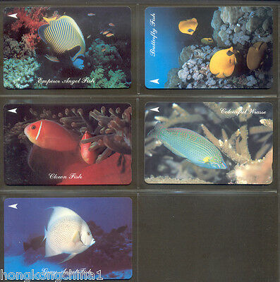 Singapore Fish Phonecard set mint never used SG13544