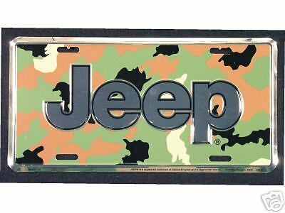 Jeep Camouflage Metal License Plate