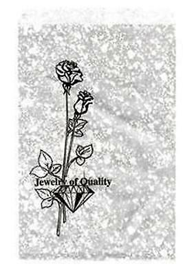 100 Jewelry Paper Gift shopping Bag 8.5x11#4 SilverTone