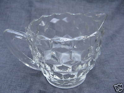 Depression Glass Cube Cubist 3 Inch Clear Creamer