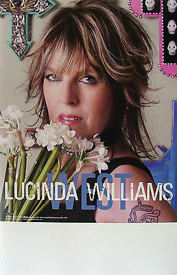 LUCINDA WILLIAMS West PROMO Poster HAL WILLNER Learning How to Live RARE Flowers