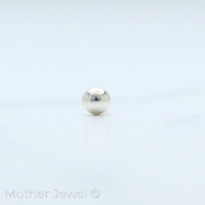 Micro Ball Real Solid Genuine 925 Sterling Silver Tiny Nose Stud Pin Bone