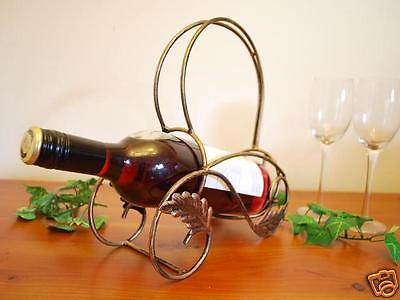 Wrought Iron French Vintage Table Wine Holder Rack