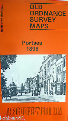 OLD ORDNANCE SURVEY MAPS PORTSEA HAMPSHIRE 1896 Godfrey Edition New