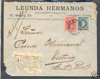 Argentina Internal Register Cover w 2 Colours Stamps L@@K