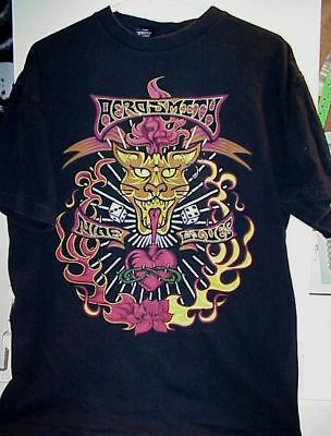 1997 Nine Lives Aerosmith Concert Tour T-Shirt New L