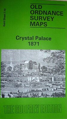 OLD ORDNANCE SURVEY DETAILED MAPS CRYSTAL PALACE KENT  1871 Special Offer