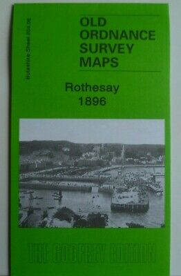 OLD ORDNANCE SURVEY MAP SCOTLAND ROTHESAY BUTESHIRE 1896 Godfrey Edition