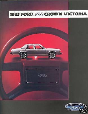 1983 Ford LTD Crown Victoria LTD Country Squire Wagon Sales Brochure - Mint!