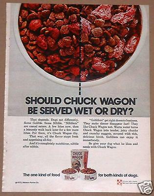 1973 Ralston Purina Print Ad Chuck Wagon Dog Food