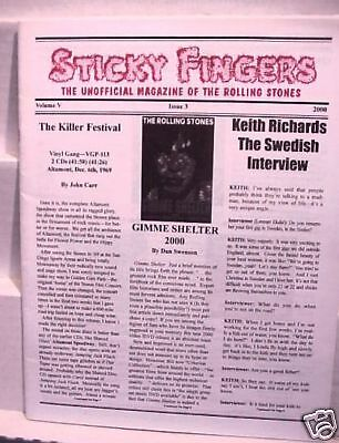 2000 Rolling Stones Sticky Fingers Fan Club Magazine