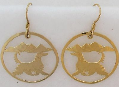 Touchstone Dog Designs Afghan Hound Jewelry Gold Earrings