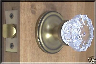Finest Fluted 12point Crystal Passage Knob Set Complete