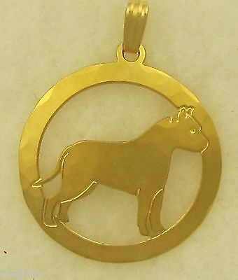 American Staffordshire Terrier Jewelry Gold Bracelet by Touchstone Dog Designs