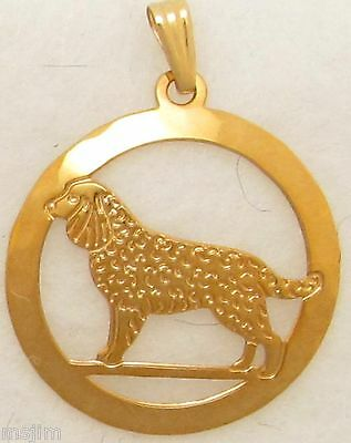 American Water Spaniel Jewelry Gold Pendant by Touchstone Dog Designs