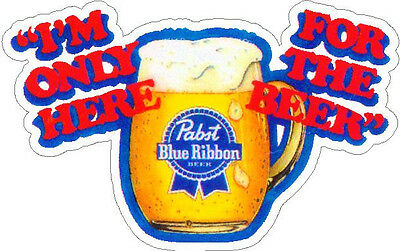 Pabst Blue Ribbon Mug Vinyl Sticker (A1012)