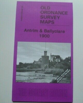 Old Ordnance Survey Detailed Map Antrim & Ballyclare Ireland 1900 Sheet  28 New