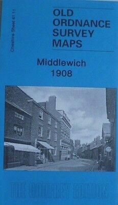 OLD ORDNANCE SURVEY DETAILED MAPS MIDDLEWICH CHESHIRE 1908 Godfrey Edition