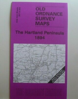 Old Ordnance Survey Detailed Maps Hartland Peninsula & Map Stratton 1894