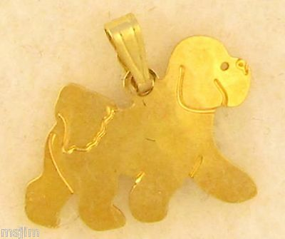 Bichon Frise Jewelry Small Gold Pendant