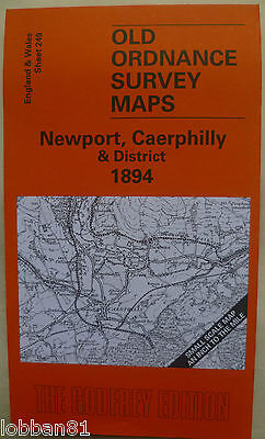 Old Ordnance Survey Maps  Newport Caerphilly Area 1894 S249 Brand New