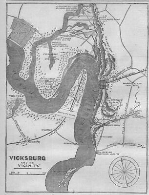 Civil War Map, Vicksburg And Its Vicinity, Plantations